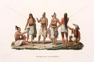 Inhabitants of the island of Rotuma  (now part of Fiji)  1822-1825.