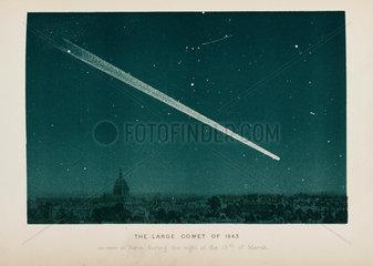 Comet over Paris  19 March 1843.