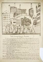 'Smoke consuming at Ancoats'  Manchester  1820 .