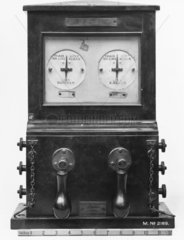 Clark's block signalling telegraph instrument  1854.