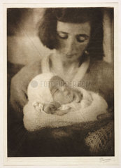 Portrait of a woman and baby  1921.