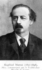 Siegfried Marcus  German inventor  c 1870s.