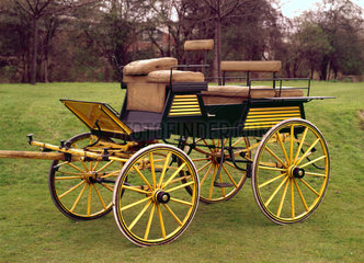 Four-wheeled dog cart  late 19th century.