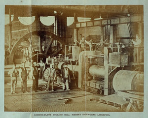 'Armour-Plate Rolling Mill  Mersey Ironworks  Liverpool'  1863.