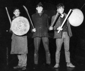Vigilantes at the barricades  Northern Ireland  January 1969.