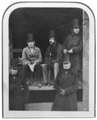 I K Brunel with Robert Stephenson and others  1857.