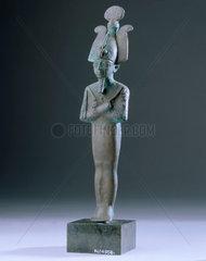 Bronze figurine of Osiris  Egyptian  1000 BC-400 BC.