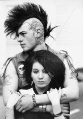 Punk couple  October 1982.