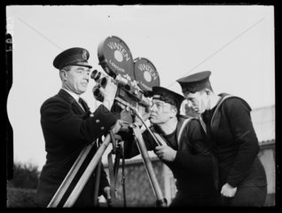 Royal Navy cameramen  1938.