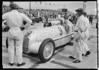 Luigi Fagioli at the wheel of a Mercedes-Benz racing car  1934.