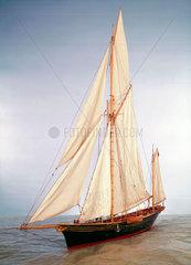 Sailing yacht 'Jullanar'  1875.