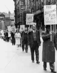 Protest march  Manchester  13 October 1963.