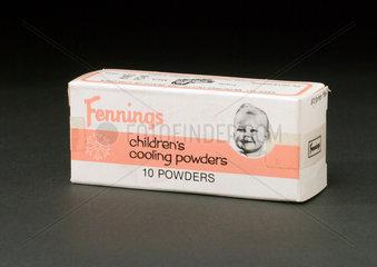 Fennings' children's cooling powders  c 1960s.