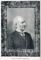 Edward Harland  founder of shipbuilders Harland & Wolff  late 19th century.