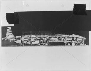 Parts of a crashed de Havilland Comet  c 1954.