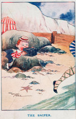 The Sniper  postcard  1918.