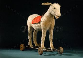 Steiff donkey on wheels  c 1913.