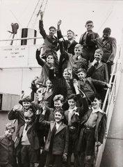 British boys on their way to Rhodesia  1946.