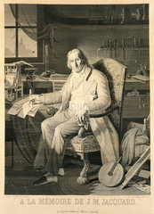 Joseph Marie Jacquard  inventor of the Jacquard loom  1839.