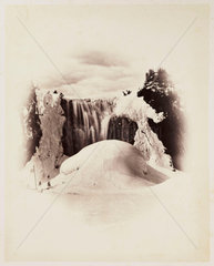 'Montmorency Falls Winter'  1860.