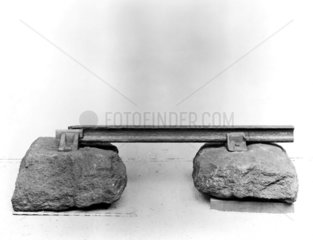 Stone sleepers  chairs  spike and rail  1834.