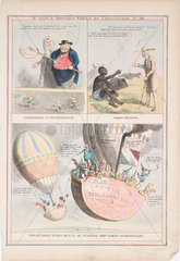 'Two hundred years hence  or  an aerial ship taking in passengers'  19th century.