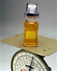 Weighing a urine sample  2000.