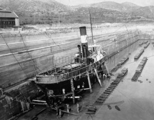 The tug 'Ramon Corral'  Salina Cruz  Mexico  1909.