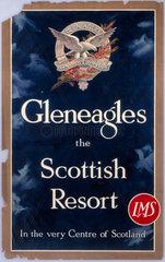 'Gleneagles the Scottish Resort'  LMS poster  c 1930s.