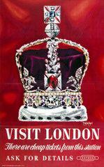 'Visit London'  BR poster  1948-1965.