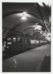 Underground train on the Bakerloo line  London  c 1935.