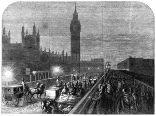 New Westminister Bridge  London  1860.