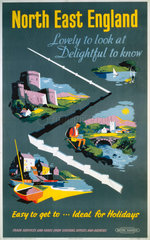 'North East England'  BR poster  1959.