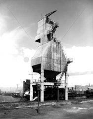 LNER locomotive coaling plant  Bradford  West Yorkshire  April 1939.