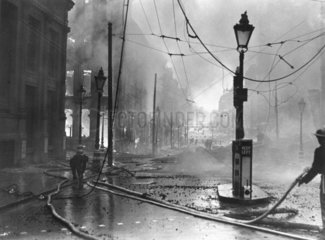 Firefighting during the Blitz  1941.