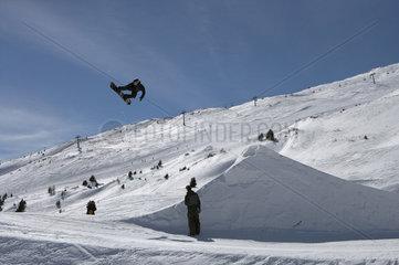 Valbella  Schweiz  Snowboardpark bei der Alp Staetz