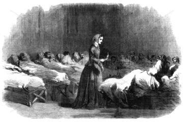Florence Nightingale  English nurse and hospital reformer  1855.