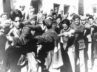 Government troops captured by the insurgents at Belchite  16 March 1938.