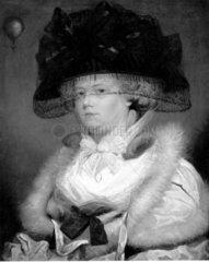 'Mrs Sage'  first lady balloonist  c 1785.