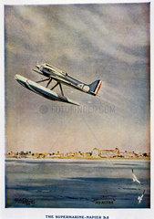 Supermarine-Napier S5  Schneider Trophy contest programme  1929.