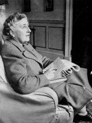 Agatha Christie  English crime writer  9 March 1946.