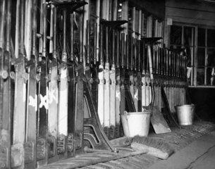 Signal box control  York Station  May 1951.