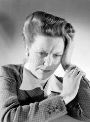 Worried woman  1950.