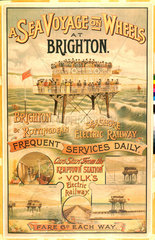 Volk's Brighton & Rottingdean Seashore Electric Railway  poster.