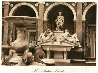 Michelangelo sculptures  Italian Court  the Crystal Palace  London  1911.