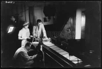 Making photographic plates  20 November 1933.