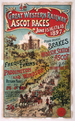 'Ascot Races'  GWR poster  1897.