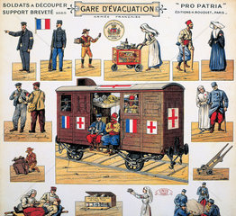 WWI Red Cross railway carriage  c 1916-1918.