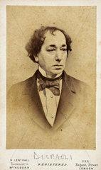 Benjamin Disraeli  English statesman and novelist  c 1860s.