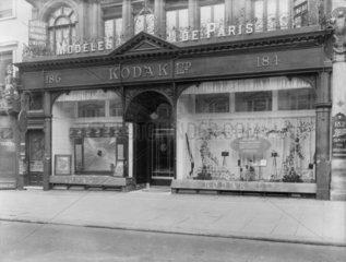 Kodak shop exterior  c 1900.
